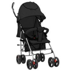 shumee Składany wózek spacerowy 2-w-1, czarny, stal