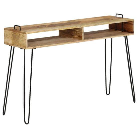 slomart Konzolna mizica iz trdnega mangovega lesa 115x35x76 cm