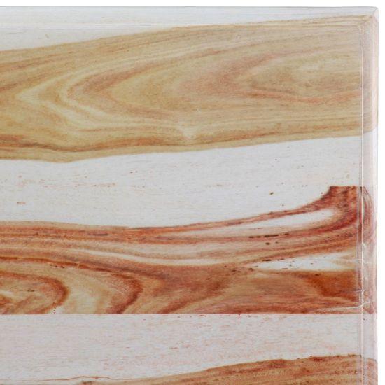 shumee Klubska mizica iz trdnega palisandra 110x60x35 cm