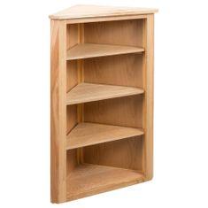 shumee Regał narożny, 59 x 36 x 100 cm, lite drewno dębowe