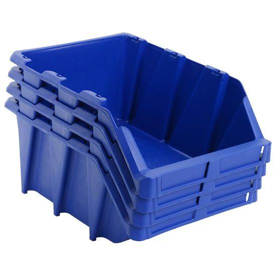shumee Skladalni zaboji za shranjevanje 20 kosov 265x420x178 mm modri