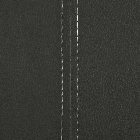 Greatstore Jedálenské stoličky, perová kostra 4 ks, sivé, umelá koža
