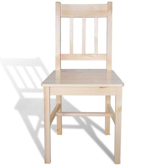 shumee Jedilni stoli 2 kosa iz borovine