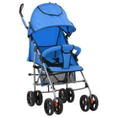 shumee Składany wózek spacerowy 2-w-1, niebieski, stal