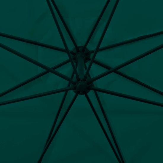 shumee zöld tartókarral ellátott napernyő 3,5 m