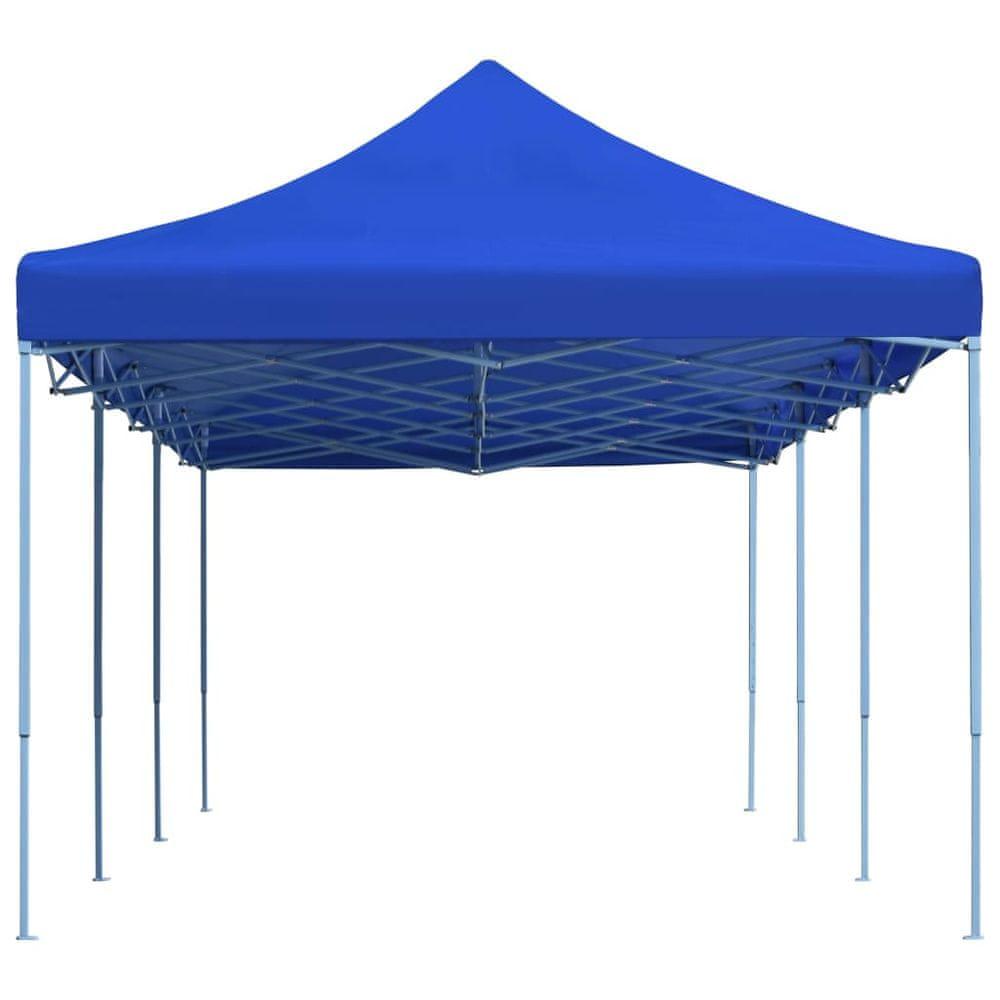 Skládací nůžkový party stan 3 x 9 m modrý