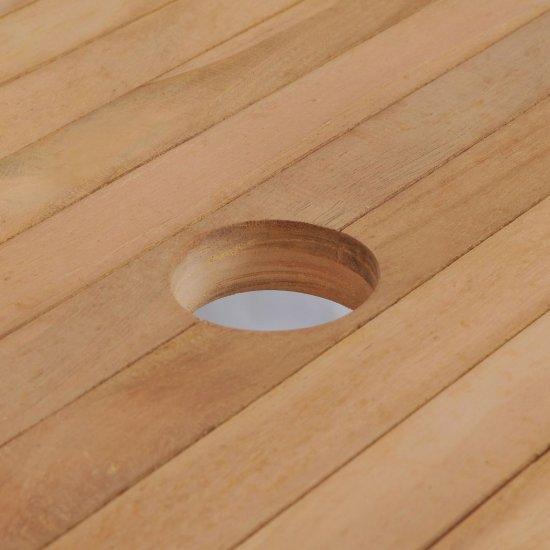 shumee Stół ogrodowy, 180 x 90 x 75 cm, lite drewno teakowe