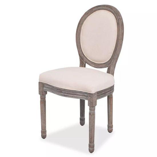 shumee Jedilni stoli 6 kosov krem blago