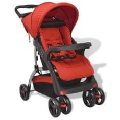 shumee Czerwony wózek spacerowy, 102x52x100 cm