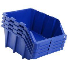 shumee Stohovatelné skladovací zásobníky 35 ks 218x360x156 mm modré
