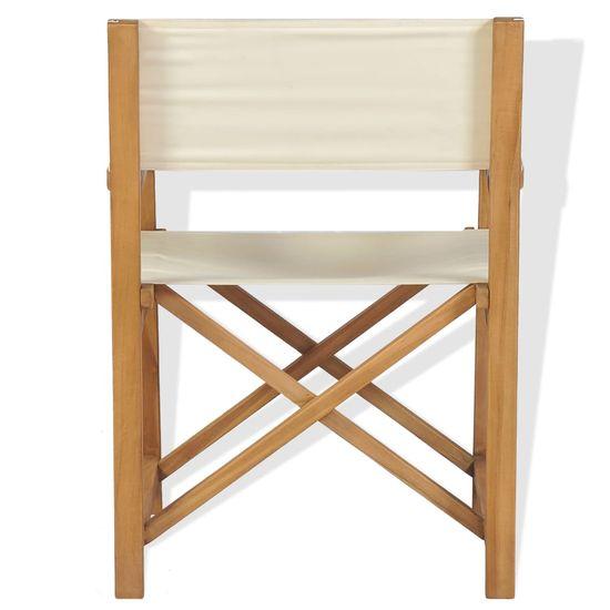 shumee Zložljiv režiserski stol trdna tikovina