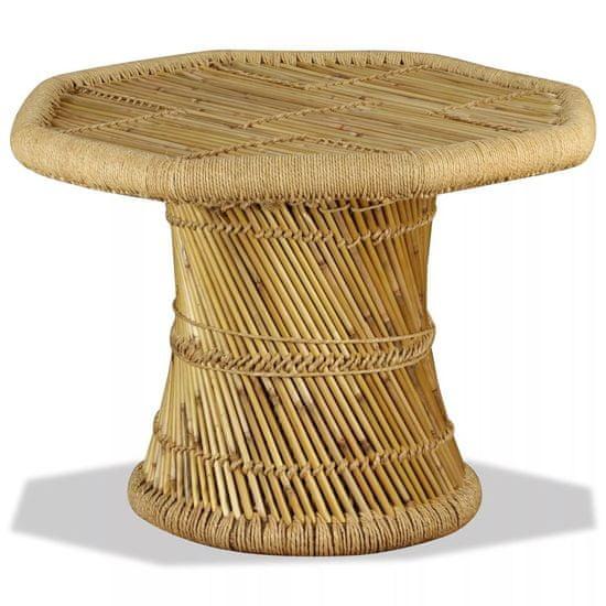 shumee Klubska mizica iz bambusa osemkotna 60x60x45 cm