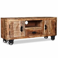Vidaxl TV stolek, hrubé mangovníkové dřevo, 120x30x50 cm