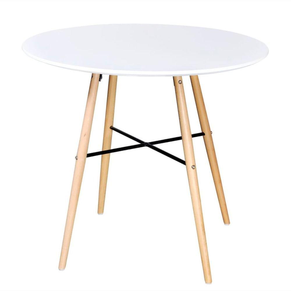 shumee Jedálenský stôl, MDF, okrúhly, biely