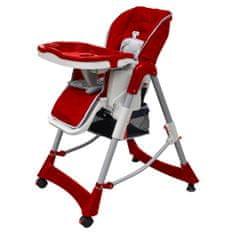shumee Luksuzni stolček za hranjenje z nastavljivo višino bordo barve