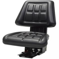 shumee Sedež za traktor z vzmetenjem črn