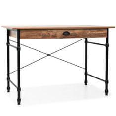 shumee Písací stôl so zásuvkou, 110x55x75 cm, dubová farba