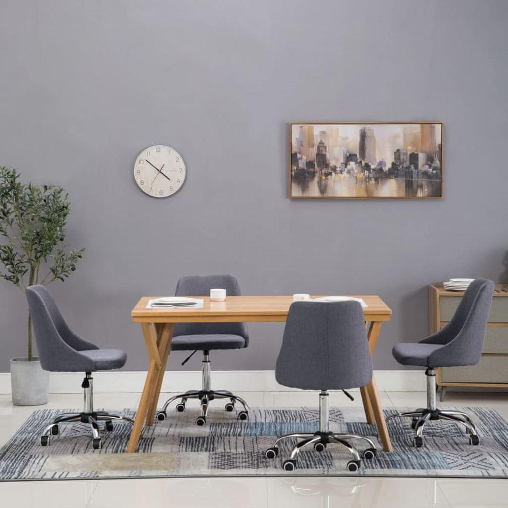 Jídelní židle 4 ks tmavě šedé textil