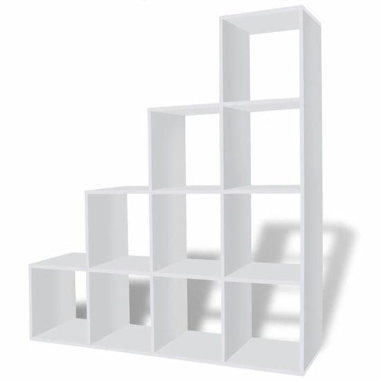 shumee Stopničasta knjižna omara/ razstavna polica 142 cm bela