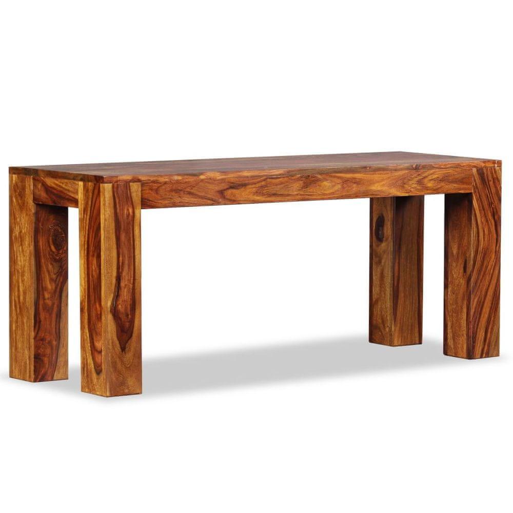 Lavice, masivní sheeshamové dřevo, 110x35x45 cm