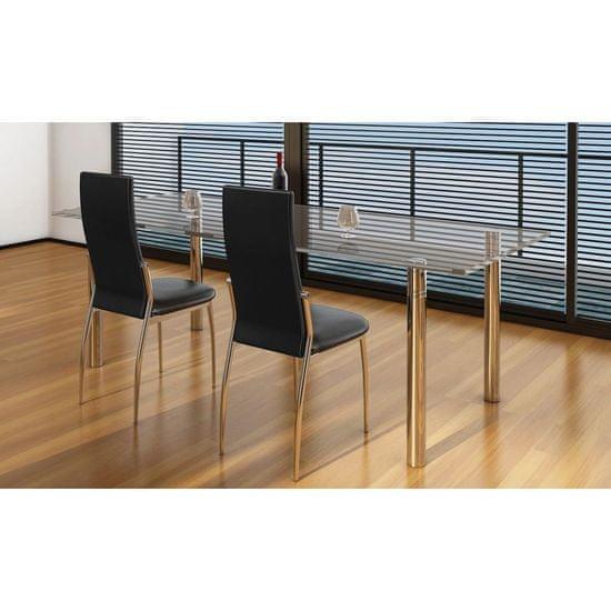 shumee Krzesła stołowe, 2 szt., czarne, sztuczna skóra