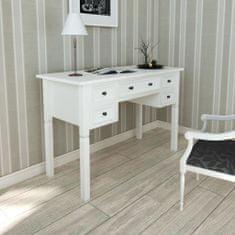 shumee Biely písací stôl s 5 zásuvkami