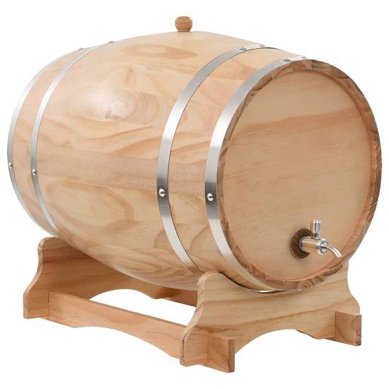 shumee Sod za vino s pipo trdna borovina 35 L