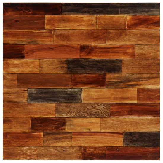 shumee Stolik barowy z litego drewna odzyskanego, 70 x 70 x 106 cm