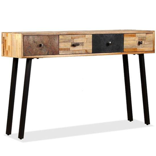 shumee tömör újrahasznosított fa tálalóasztal 120 x 30 x 76 cm