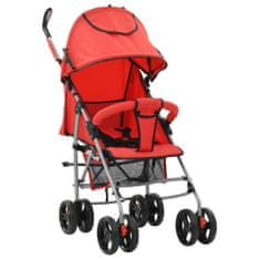 shumee Składany wózek spacerowy 2-w-1, czerwony, stal