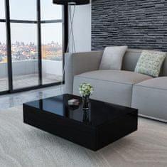 shumee Konferenčný stolík, lesklý, čierny