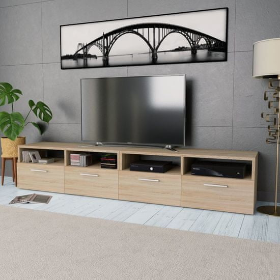 shumee TV omarica 2 kosa iverna plošča 95x35x36 cm barva hrasta