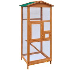 shumee Voliéra pre vtákov, drevená, 65x63x165 cm