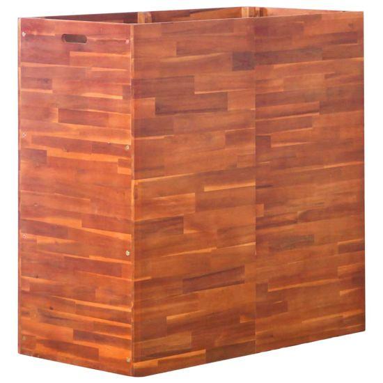 shumee Visoka greda iz akacijevega lesa 100x50x100 cm