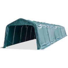 shumee Odnímateľný prístrešok pre dobytok PVC 550 g/m², 3,3x16 m, zelený