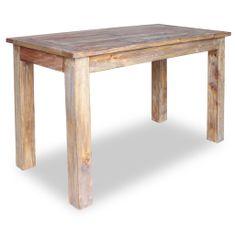 shumee Jedilna miza iz masivnega predelanega lesa 120x60x77 cm