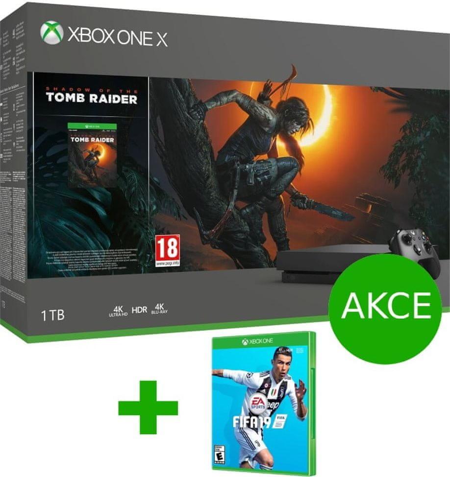 Microsoft Xbox One X 1TB + Shadow of Tomb Raider + Fifa 19 (CYV-00105)