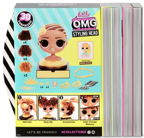 L.O.L. Surprise! OMG Royal Bee velika sestra, glava za friziranje