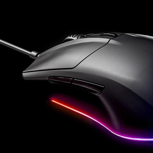 kvalitní materiál herní myš nízká hmotnost