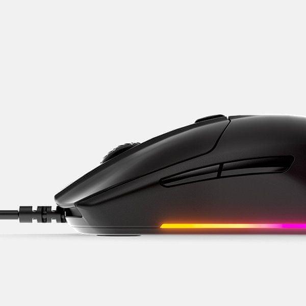 paměť myši, ukládání nastavení, steelseries myš