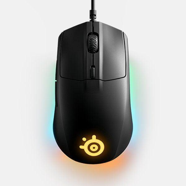 komfort, ergonomie, herní myš, pro praváky