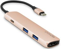 EPICO USB Type-C Hub Multi-Port 4k HDMI - gold/black 9915112000003