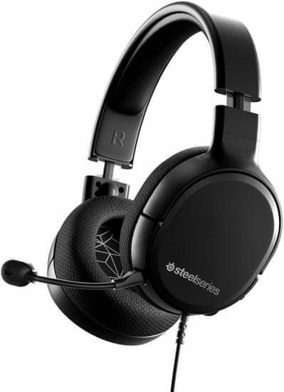 SteelSeries Arctis 1 slušalke, črne (PC, Switch, Xbox, PS4)