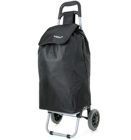 Aerolite Nákupní taška na kolečkách HOPPA ST-40 - černá