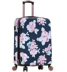 AZURE Cestovní kufr SIROCCO T-1251/3-M PC - Flower