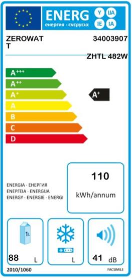 Zerowatt lednice ZHTL 482W