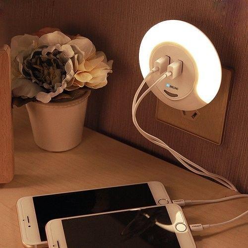 Immax LED nočné orientačné svetlo + USB nabíjačka