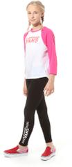 Vans dívčí tričko L bílá/růžová