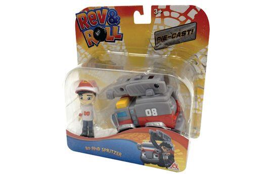 Rev&Roll Die Cast Bo and Spritzer figura in avtomobil (BL.38327)