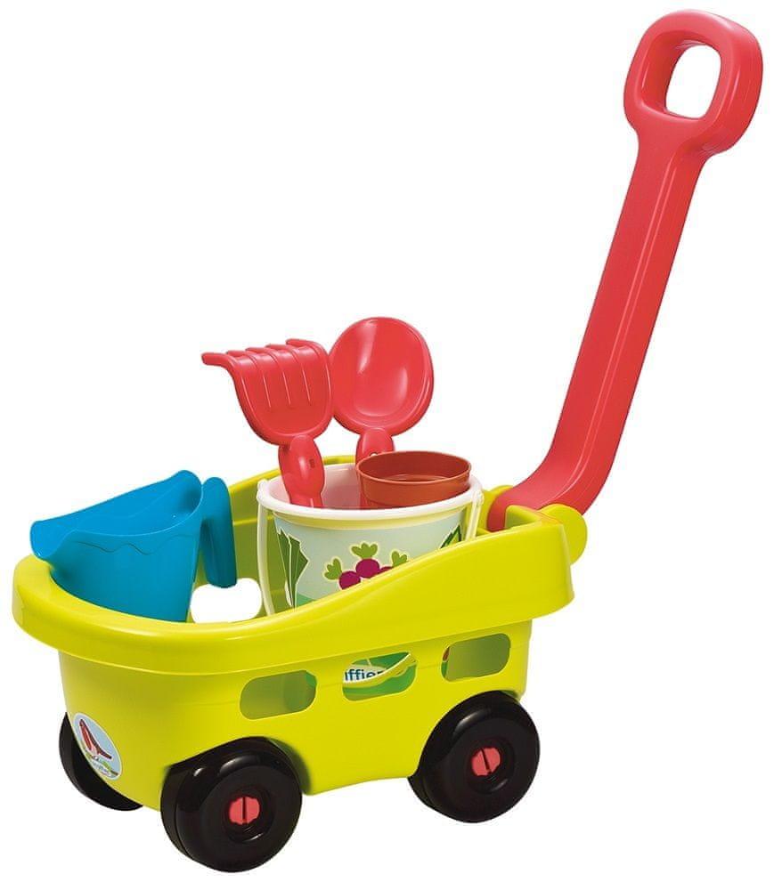 Ecoiffier Zahradní vozík s kyblíčkem a příslušenstvím zelený